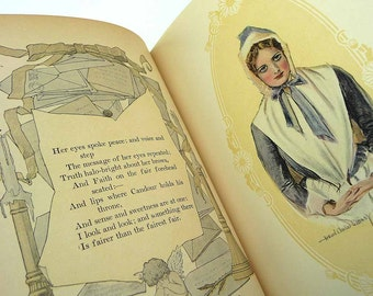 1906 The CHRISTY GIRL by Howard Chandler Christy Gibson Girl Woman Poetry and Prose Decoratoins by Earl Stetson Crawford