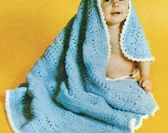 Baby Blanket Crochet Pattern, Hairpin Lace Pattern, Crochet Baby Blanket Pattern, INSTANT Download Pattern PDF (1346)