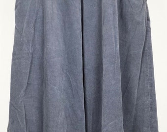 Gray Corduroy Midi Skirt 10 S M 1980s