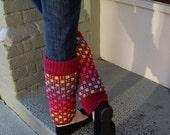 Windowpane Leg Warmers - Knitting Pattern