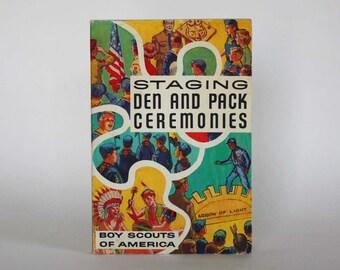 Staging Den and Pack Ceremonies - Vintage Book c. 1973