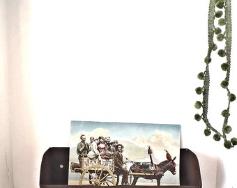 Vintage Industrial Machine Age Iron Wall Shelf