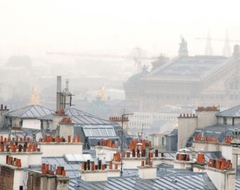 "Paris Photography, ""Paris Fog"" Paris Print Extra Large Wall Art Prints, Paris Wall Decor"
