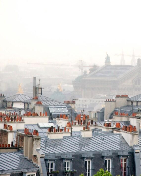 "Paris Photography, ""Paris Fog"" Paris Print Extra Large Wall Art Prints, Paris Wall Decor"