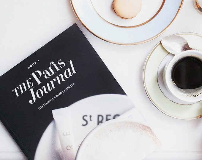 The Paris Journal - A Visual Diary of a Day in Paris, Paris Photography, Travel Journal, Bookworm Gift for Her, Literary