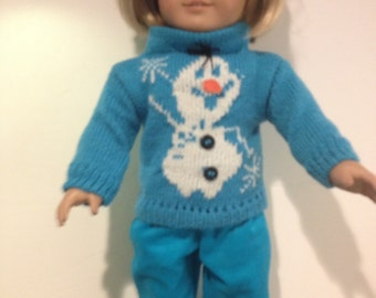 Olaf sweater set to fit American girl