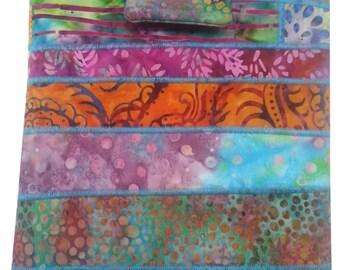 Tablet Sleeve Padded in Multicolored Batik Fabrics