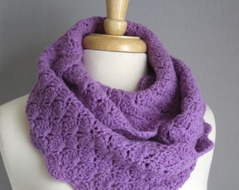 Purple Cashmere Blend Women's Scarf, Eco-Friendly Long Scarf, Lilac Purple Scarf