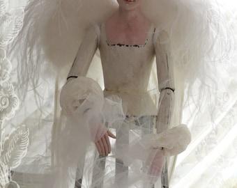 cherubim spirit wings - St Gabriel style - Santos adornment