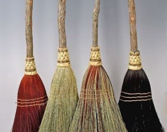 Rustic Wedding Broom, Jumping Broom in your choice of Natural, Black, Rust or Mixed Broomcorn -  Broom Jumping & Handfasting Broom