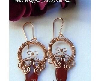 TUTORIAL, Wire Wrapped Earrings, O! My Goddess Earrings, Marquee, Wire Weaved Jewelry Pattern
