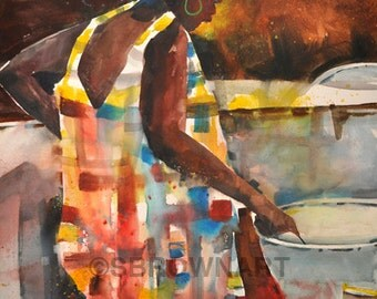 Jazz Explosion Painting African American Art Musical