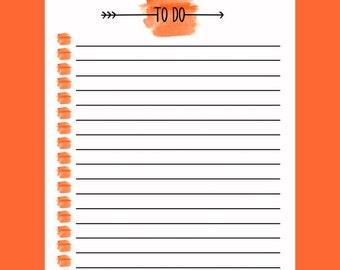 To Do List - Orange Paint Brush Arrow