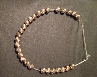 BALLS SWIRLS of Sterling Silver BEADS 3 mm