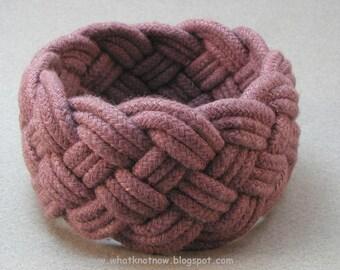 marsala rope bracelet wide chunky knotted wristband turks head bracelet sailor bracelet nautical rope cuff rope jewelry 3478