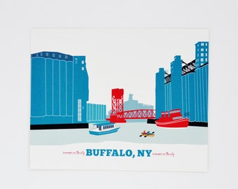 Buffalo, NY Ohio Street Print, Gift for Him or Her, 15 gift