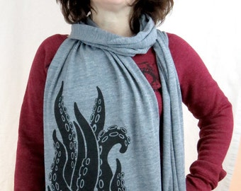 Tentacles Heather Gray Triblend Scarf