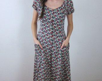 Lovely Floral Esprit 90's Dress
