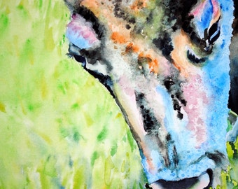 Buffalo, original Watercolor painting, Tracy Rose Moyers, bison, wildlife, nature