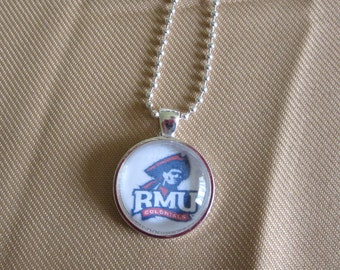 Robert Morris University Necklace, RMU Pendant, Colonials Keychain