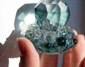 Glass Crystal Sculpture / OOAK