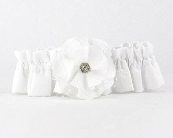Netted Rose Wedding Garter - 50104W