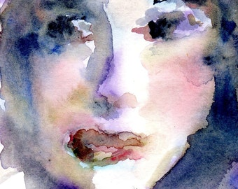 """Giclee Fine Art Print , """"Next Time"""" - from My Original Watercolor Painting 8 x 10"""