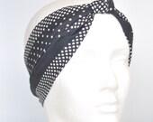 Vintage 1960s Polka Dot Scarf / Headband // Head wrap // Rockabilly Kitsch // Retro Scarf