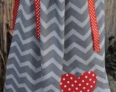 Chevron pillowcase dress RESERVED for Jennifer Wright Sharp