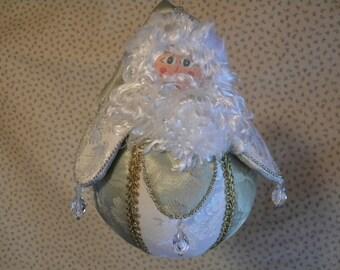 Christmas ornament, Victorian Rollie-Pollie Santa