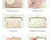 Blush Bridesmaid Clutch Set | Personalized Clutch | Bridesmaid Gift Idea | Wedding Clutch Purse [Set of 6 Clutches: Various Designs]