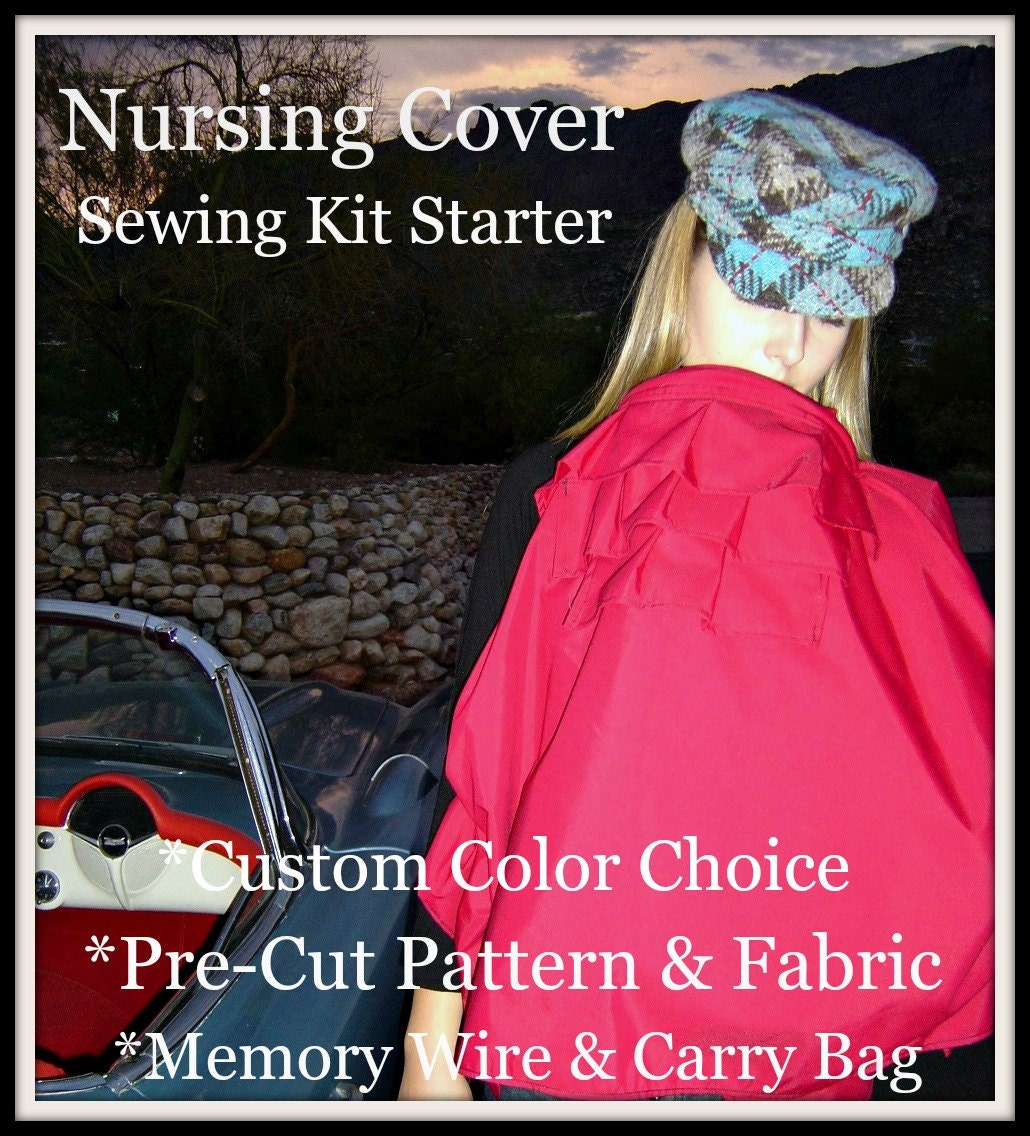 Book Cover Sewing Kits : Fabric kit sewing designer nursing cover starter pre