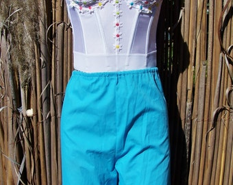 Strapless Top, Corset Top,  Daisy summer top, Upcycle corset top, size 34 / XS