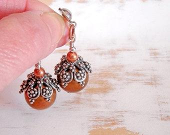 Large Statement Earrings, Mixed Metal Jewelry, Stud Drop Earrings, Vintage Style Jewelry, Big Earrings, Bohemian Earrings, Copper Earrings