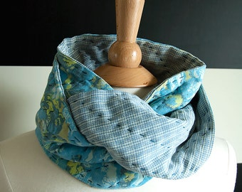 Out of the Blue UPCYCLED Quilted Infinity Scarf