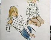 1110 Kwik Sew Pattern        Girls   Turtle Neck   Size  8  10  12  14