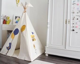 Teepee tent MIDI size Bird+Balloons