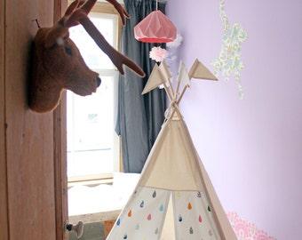Teepee tent | Raindrops Print | MIDI size