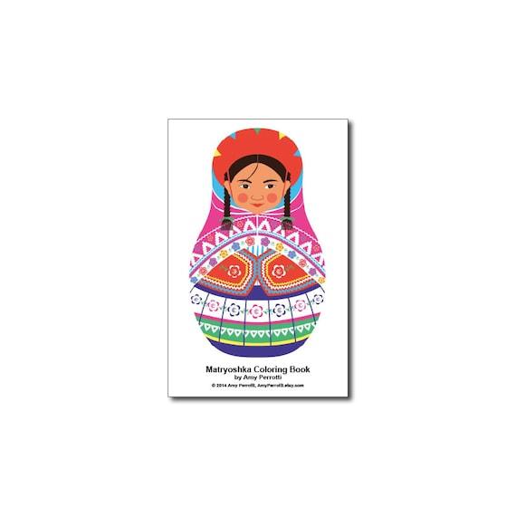 Matryoshkas (A) Mini Coloring Book Printable file