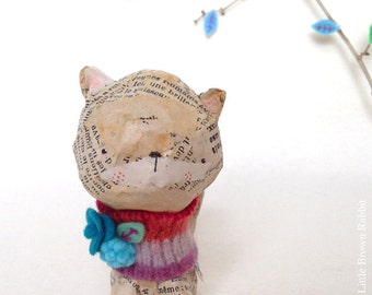 Paper Mache Original- Artwork Original - Mixed Media - OOAK - by Emma Talbot of The Little Brown Rabbit
