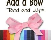 Add a Bow to any Door Sign, Hairbow Holder, Growth Chart, or Canvas