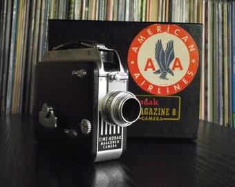 1940's Cine Kodak Magazine 8 8mm Film Movie Camera with Original Box