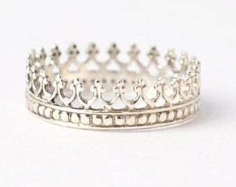 Princess Ring: Silver Crown Ring, Cool Gifts for Teens