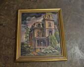 1948 Signed Oil Painting Insane Asylum | Vintage Oil Painting | Oil Painting | Insane Asylum