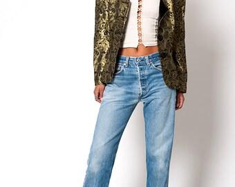 The Vintage Gold Bolero Tuxedo Jacket