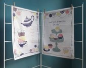 SALE: Tea and Cake Cotton Tea Towel Gift // Time For Tea // Room For Cake