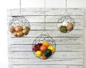 Wire Basket Hanging Sphere Set