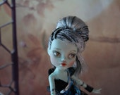 Repainted High Fashion Doll, Monster Doll, OOAK Custom, Trendy Girl, Custom Repaint, Art Doll