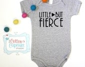 Little But Fierce - American Apparel Onesie