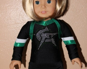 "Made to order Cheer force Cheerleader Uniform to fit American Girl Doll or any 18"" doll"